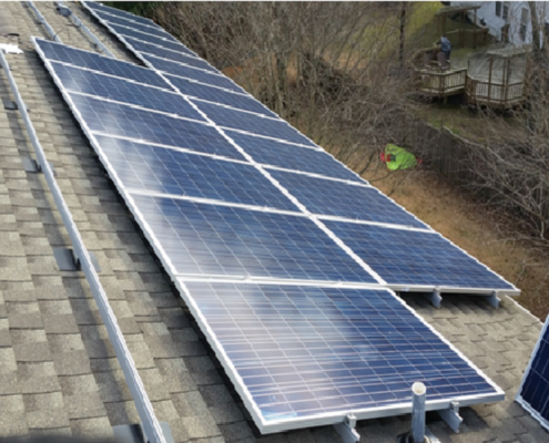 10 kW Residential PV Project in Bowie Maryland, being installed.