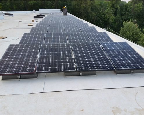 50 kW Commercial Project in Washington DC (NE), Being Installed.